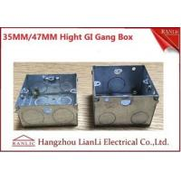 Wholesale 20mm 25mm Knockouts Steel Gang Box With Brass Terminal & Adjustable Ring from china suppliers
