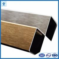 Wholesale Brushed Gold Color Anodized Aluminum Angle Profiles for Decoration Material from china suppliers