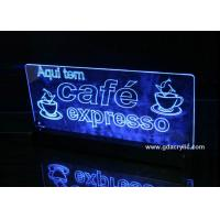 Wholesale Led Lit Signs Bar Club Counter Illuminated Setting , Service Digital Menu Signage from china suppliers