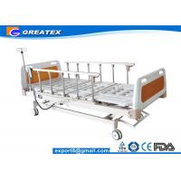 Buy cheap Remote Control Mobile Handicapped Electric Hospital Bed With IV Pole Three Functions from wholesalers