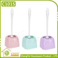 Wholesale Low Price Toilet Cleaning Brush With Rectangular Plastic Holder from china suppliers