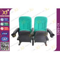 Wholesale Multi Color Plastic Folded Theater Stadium Seating With Cup Holder OEM / ODM from china suppliers