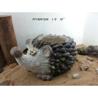 Wholesale Hand Cast Hedgehog Outdoor Garden Planters In Magnesia 18 Inch from china suppliers