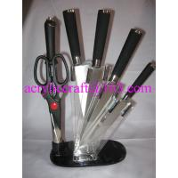 Wholesale Acrylic knife holder, plexiglass knife rack / acrylic knife display rack from china suppliers
