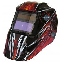 Wholesale Custom LCD Auto Tinting Welding Helmet , Metal Man Auto Darkening Welding Mask from china suppliers