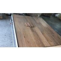 Buy cheap brushed White Oak engineered wood flooring, 0 tax for American clients from Cambodian factory from wholesalers