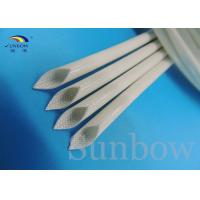 Quality Silicone Rubber Coated Fiberglass Sleeving , White Fiberglass Braided Sleeving for sale