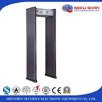 Wholesale Indoor use walkthrough metal detector , walk through safety gate with LED alarm light from china suppliers