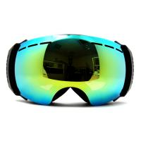 China Super Vision Double Lens Frameless Mirrored Ski Goggles Anti Fog , Outrigger Design on sale