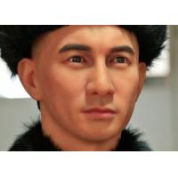Quality Silicone And Resin Life Size Wax Figures / Celebrity Wax Statues Chinese Men for sale