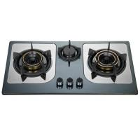 Wholesale Stainless Steel Top Panel LPG Gas Hob , Three Burner Gas Stove With Brass Cap from china suppliers