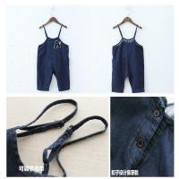 Wholesale Dark Blue Baby Boy Overalls Jeans With Suspenders European American Style from china suppliers