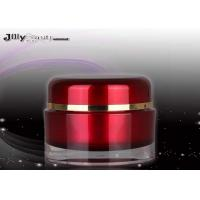 Wholesale Frosty Evening Cream Red Height 48mm PMMA Cream Cosmetic Jars With Lids 30ML from china suppliers