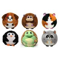 Wholesale 25cm Round Shape Animal Promotional Gifts Toys Green / Brown / Grey Color from china suppliers