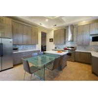 Wholesale Country Design  UV Kitchen Cabinet Island Shaped With Acrylic Countertops from china suppliers