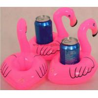 Wholesale Mini Flamingo Floating Inflatable Coasters Drink Cell Phone Holder Stand Pool Event & Party Decoration Toy For Kids from china suppliers