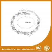Wholesale Zinc Alloy Chain Zirconia Bracelets Metal Adjustable Cord Bracelet from china suppliers