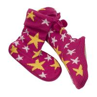 Wholesale Washable Pink Aloe Infused Spa Socks With Yellow Start Printed from china suppliers
