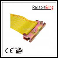 Wholesale Yellow E Track Ratchet Straps with Spring E - Fittings Length 12feet / 16feet / 20feet from china suppliers