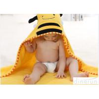 Customized Cartoon Style Baby Hooded Towels For Children Eco Friendly