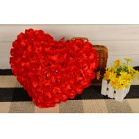 Quality Creative Heart shape pillow rose flower design heart cusion doll great gift 35cm red for sale