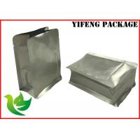 Wholesale OEM Flat Bottom Food Packaging Bags Al Foil Laminated , Up To 10 Colors from china suppliers