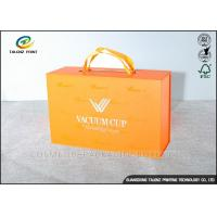 Luxury Cardboard Jewelry Gift Boxes Customized Size With Ribbon Handles