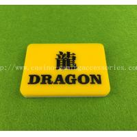 Wholesale Casino Tiger Texas Holdem Button Dragon Wins Tiger Customer Snap from china suppliers