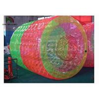 Wholesale 3m Long * 2.4 Dia Red / Green Inflatable Water Toy / Water Rolling Ball For Amusement from china suppliers