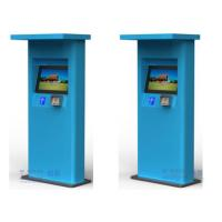 Wholesale Waterproof Free Standing Half Outdoor Kiosk for Mutil Payment Function Bule Green Color from china suppliers