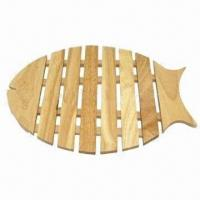 Wholesale Fish trivet, made of rubber wood from china suppliers