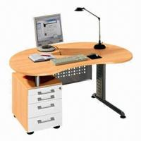 Wholesale Compute desk with drawers, MDF with PVC wrapped from china suppliers