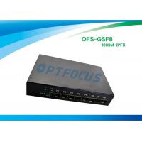 Wholesale 8 Port 12 Gbe SFP Fiber Optic Ethernet Switch 100 BASE - Fx DC5V 1A Power supply from china suppliers