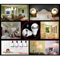 JK102  E27 rgb color changing smart  bluetooth led light bulb lamp speaker with app control