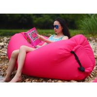 Wholesale Outdoor Folding Pink Inflatable Air Bag Chair For Beach Rentals 260 * 70CM from china suppliers