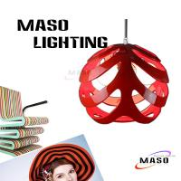Wholesale Resin pendant lamp Covers Lighting Accessories Ball Shade Red Color from china suppliers