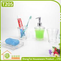 Quality Factory Manufacturer Cheap Price Good Quality White Transparent Plastic Bathroom Accessories Sets for sale