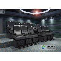 Wholesale Black 4D Movie Theater Chair Play 3D Films, 4D seats With Sweep Leg And Push Back Effect from china suppliers