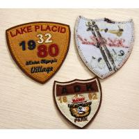 Wholesale PU Leather Embroidered Custom Sew On Patches RPET Fabric from china suppliers