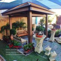 Wholesale WPC gazebo for sale 4m*4m in Kuwait -wood plastic composites material from china suppliers