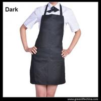 Wholesale Classic black promotional plan aprons in stock ready for customized logo advertisment need from china suppliers
