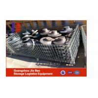 Wholesale Folding Zinc Plated Cold Steel Plate Metal Cage Storage Units 1000*800*840mm from china suppliers
