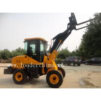 Wholesale 1.0t wheel loader ZL10A with pallet fork/grass grab/log grapple from china suppliers