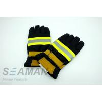Wholesale Fire Retardant Aramid Fiber Leather Fireman Protective Gloves Fire Fighting Equipments from china suppliers