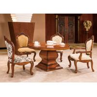 Wholesale Wooden Luxury Dining Room Furniture With 6 Chairs , Mahogany table and chair set from china suppliers