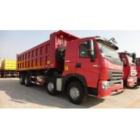 Quality 420 hp A7 8x4 Dump Tipper Truck / 4 axle dump truck with A7-W Cabin for sale