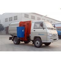 Wholesale FOTON 4X2 2000 Liters Small Dumpster Garbage Truck , 6 Wheels 2cbm Mini Garbage Truck from china suppliers