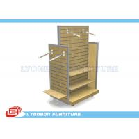 Wholesale OEM Four - Side MDF / Metal Slatwall Display Stands For Garment Presenting from china suppliers