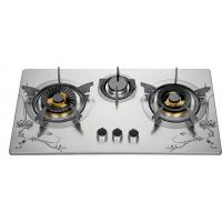 Wholesale 72cm Three Burner Gas Cooktop , Stainless Steel 3 Burner Gas Stove For Kitchen from china suppliers