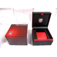 Wholesale Red Handcrafted Plastic Watch Boxes , Luxury Watch Storage Box 110*110*85mm from china suppliers